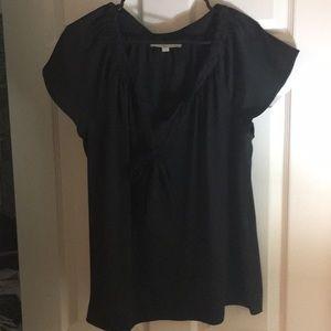 Worn 2x black tie cap sleeve top size large